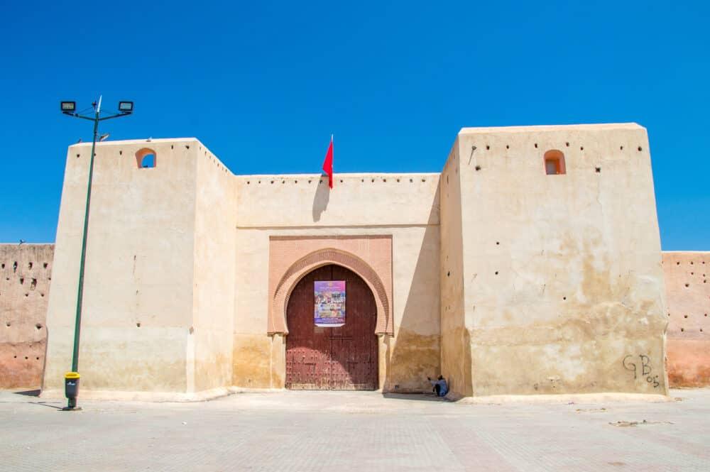 Marrakech, Morocco - Gate of Galerie Bab Doukkala.