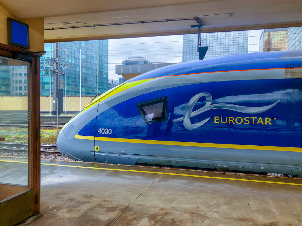 The E320 Eurostar International High Speed passengers Train