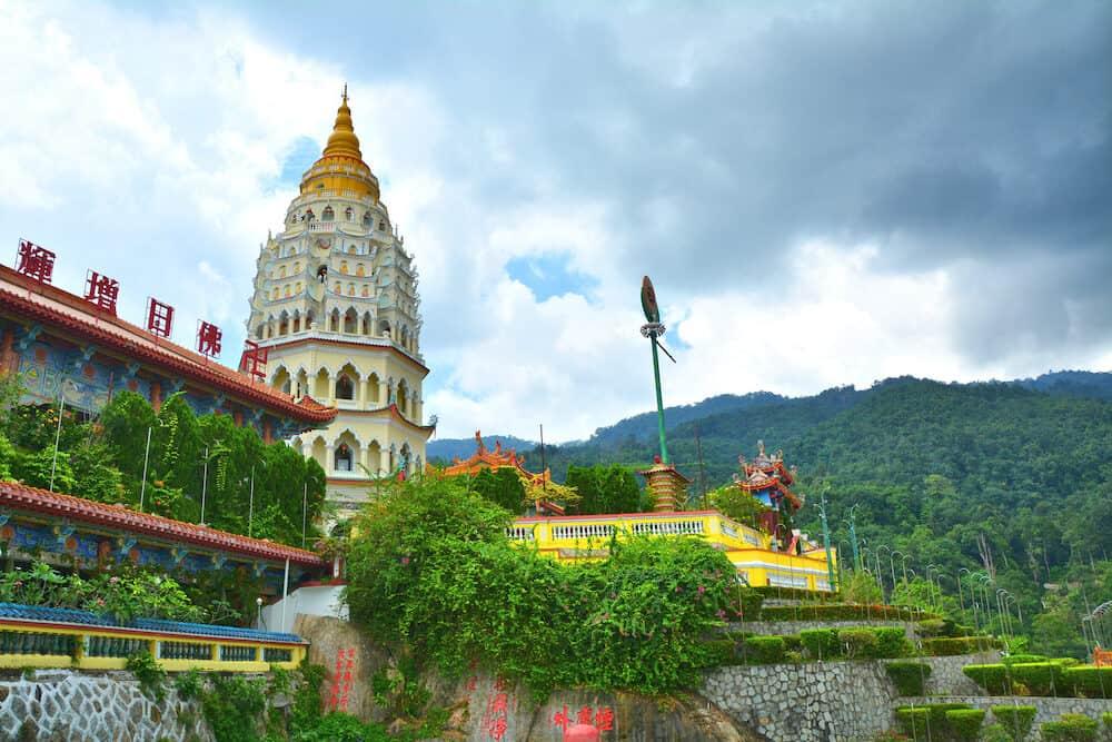 GEORGE TOWN, PENANG, MALAYSIA - Kek Lok Si Buddhist temple in Georgetown on Penang island, Malaysia. It's the biggest buddhist temple in Malaysia.