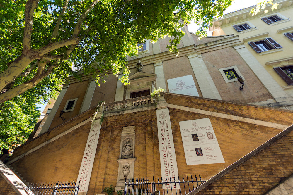 ROME, ITALY - Amazing view of Church of Santa Maria della Concezione dei Cappuccini in Rome, Italy