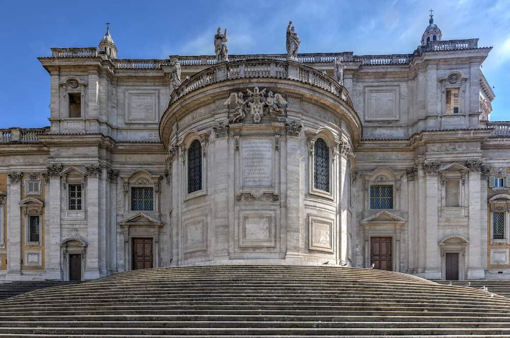 Basilica di Santa Maria Maggiore in Rome, Italy. Santa Maria Maggiore, is a Papal major basilica and the largest Catholic Marian church in Rome, Italy.