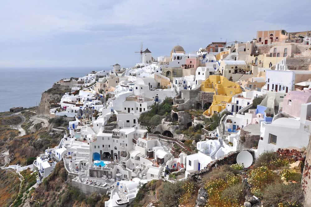 village karterados on greek island santorini, greece