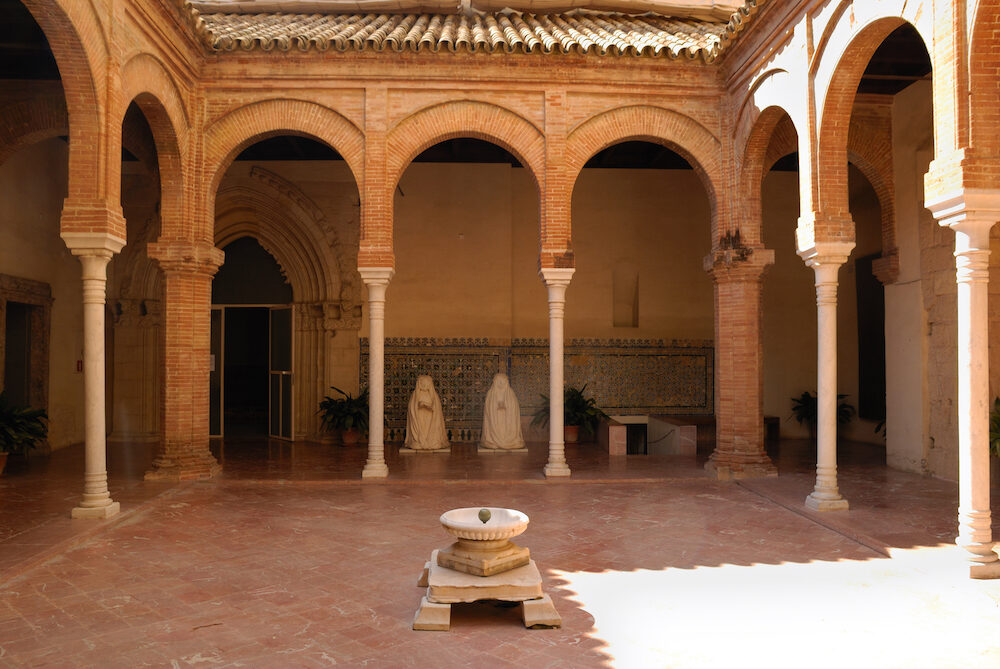 Patio in La Cartuja an old monastery located Seville Spain.