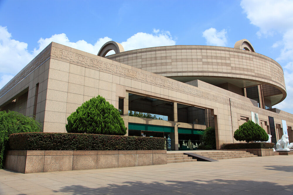 shanghai museum, a landmark in downtwo Shanghai, china,