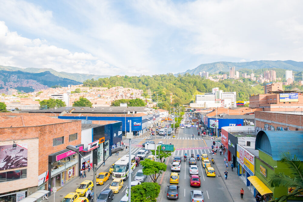 Medellin - This is the panoramic view of Medellin City from the district industriales that tourists reach with metro cable to visit our many shopping centers