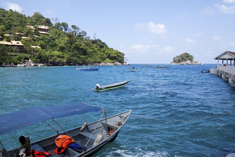 TIOMAN ISLAND, MALAYSIA -: Kampung Salang Marine Park in Tioman Island, Malaysia. One of the protected coral reef area on Tioman Island