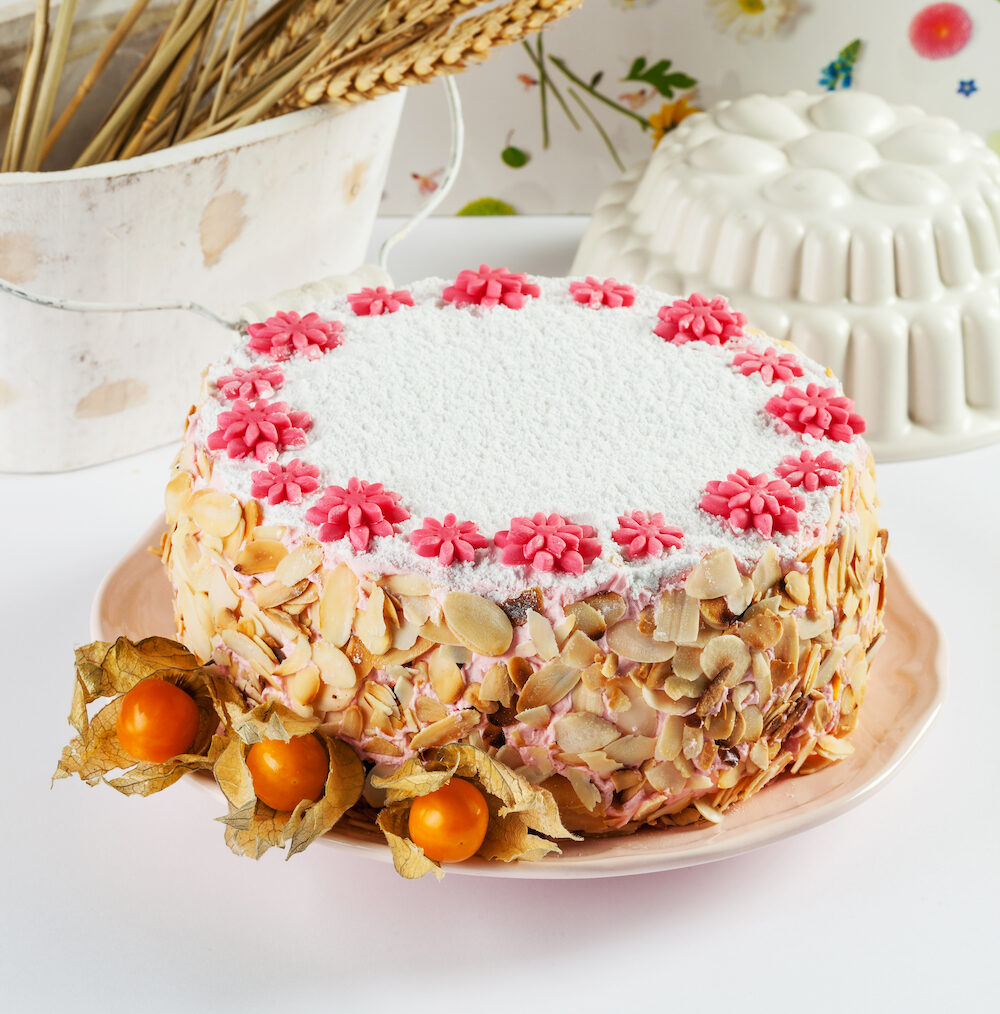 Zuger Kirschtorte is a layer cake from the city of Zug in Switzerland flavoured with cherry brandy.