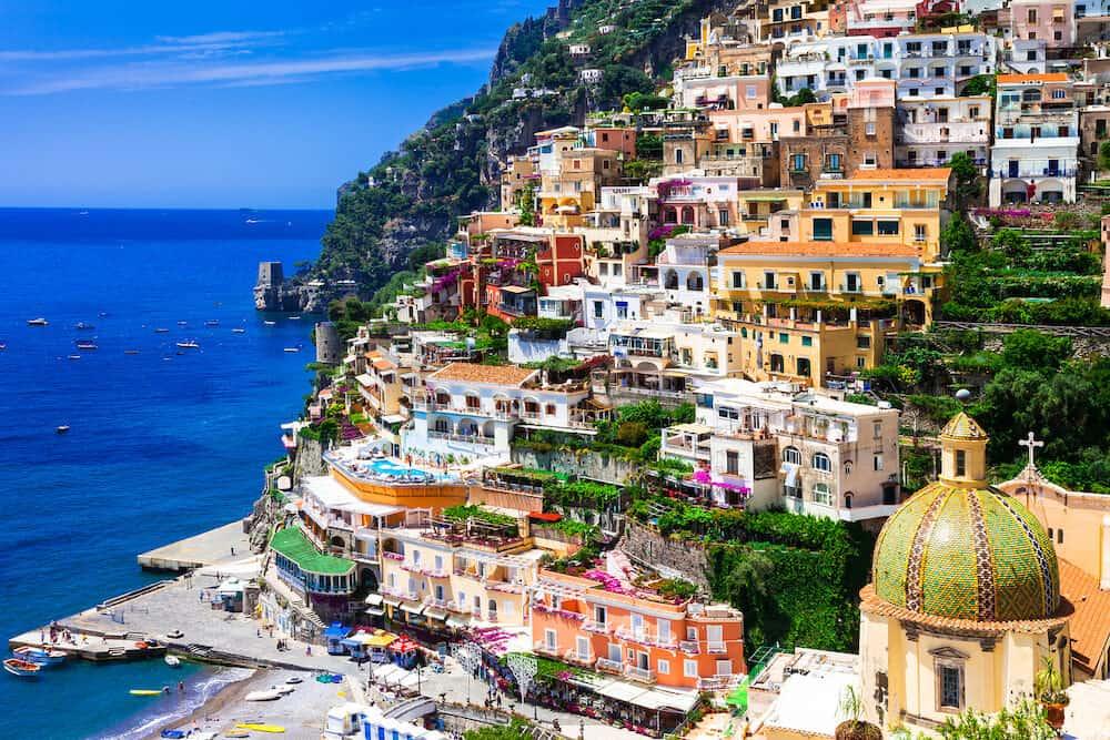 Beautiful colorful Positano town - scenic Amalfi coast of Italy