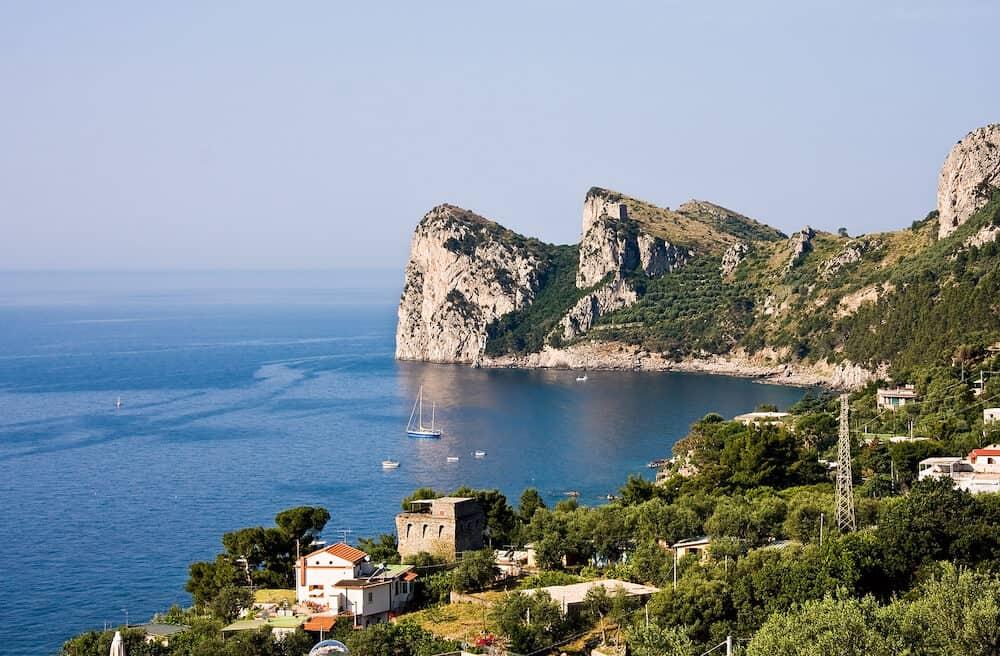 Nerano Headland, on the Amalfi coast, Italy