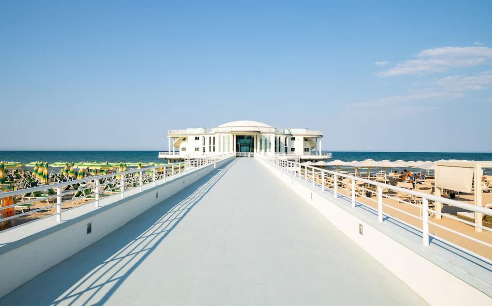 Senigallia Italy - The famous La Rotonda A Mare seaside resort