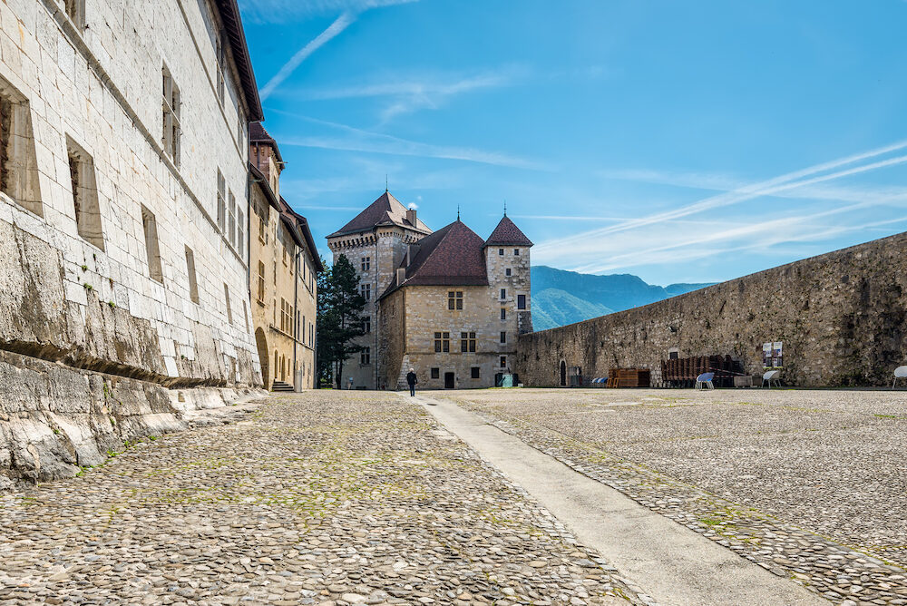 Annecy France - The Annecy Castle (Chateau d'Annecy) at town of Annecy in the Haute-Savoie department of France.