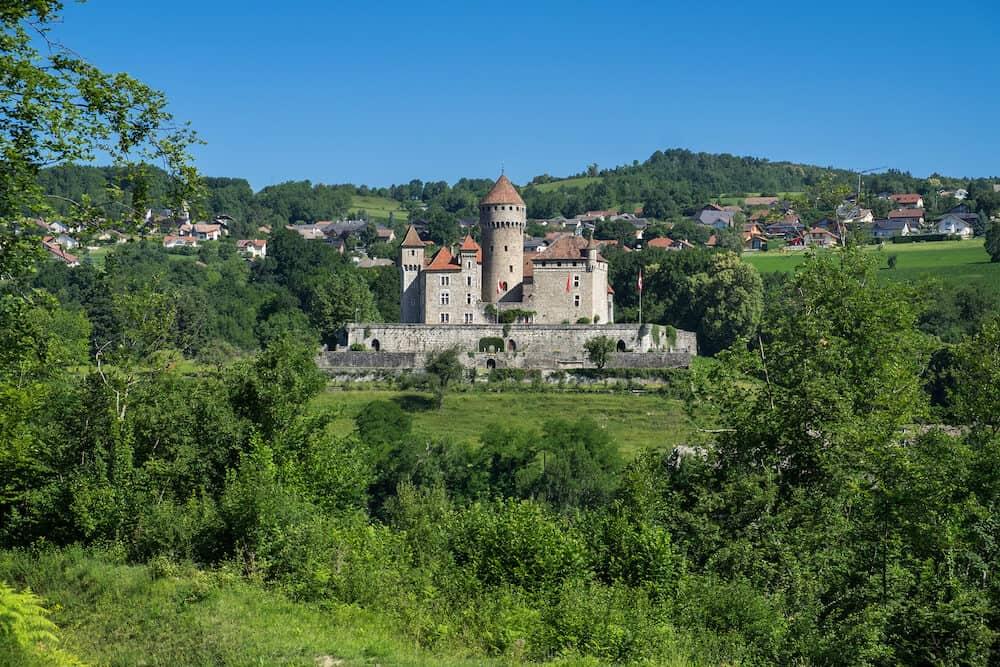 ANNECY FRANCE - The Chateau de Montrottier (Montrottier Castle) near Annecy Haute Savoie France