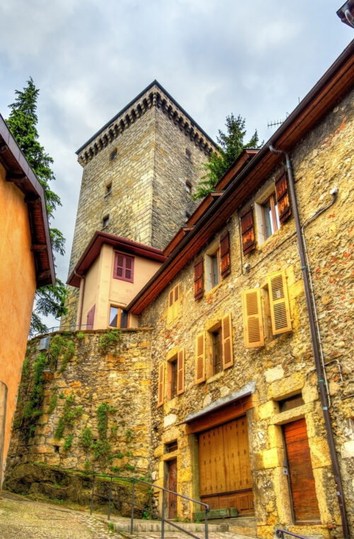 View of Chateau d'Annecy a castle in Haute-Savoie department of France