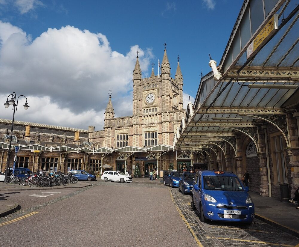 BRISTOL UK - CIRCA Bristol Temple Meads railway station designed by Brunel in 1840s and extended in 1870s