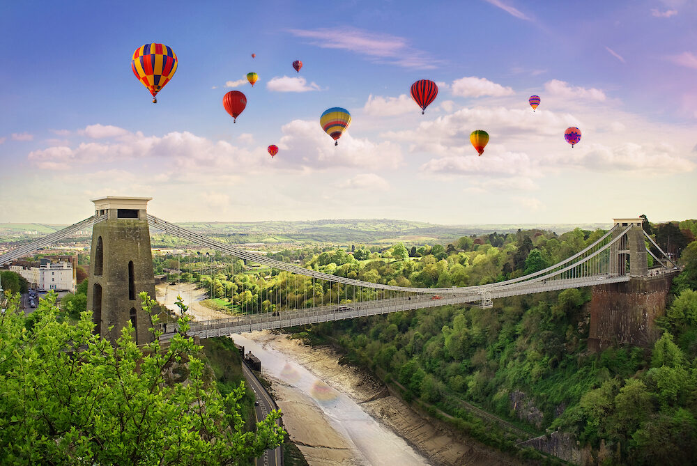 The World Famous Clifton Suspension Bridge situated in Bristol UK.