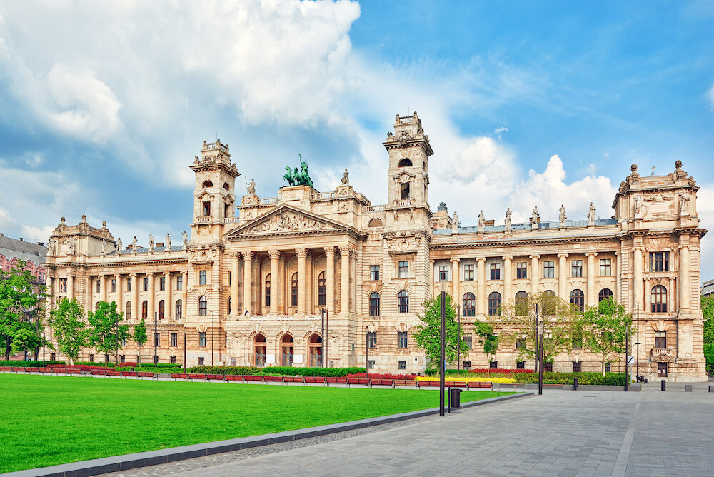 Beautiful building- Ethnographic Museum is a national museum in Budapest Hungary.