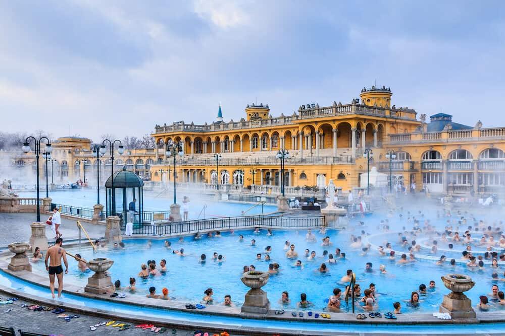 Budapest, Hungary. Szechenyi Baths in Budapest, Hungary.