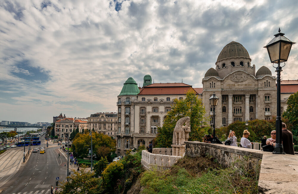 Budapest / Hungary - : View of the Danubius Hotel Gellért, a 1918 Art Nouveau hotel on the river Danube.