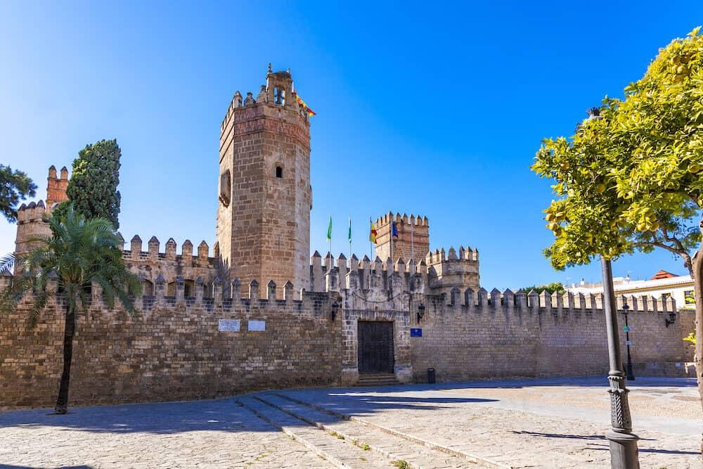 El Puerto de Santa Maria town in Cadiz province Andalusia Spain St Marcos castle