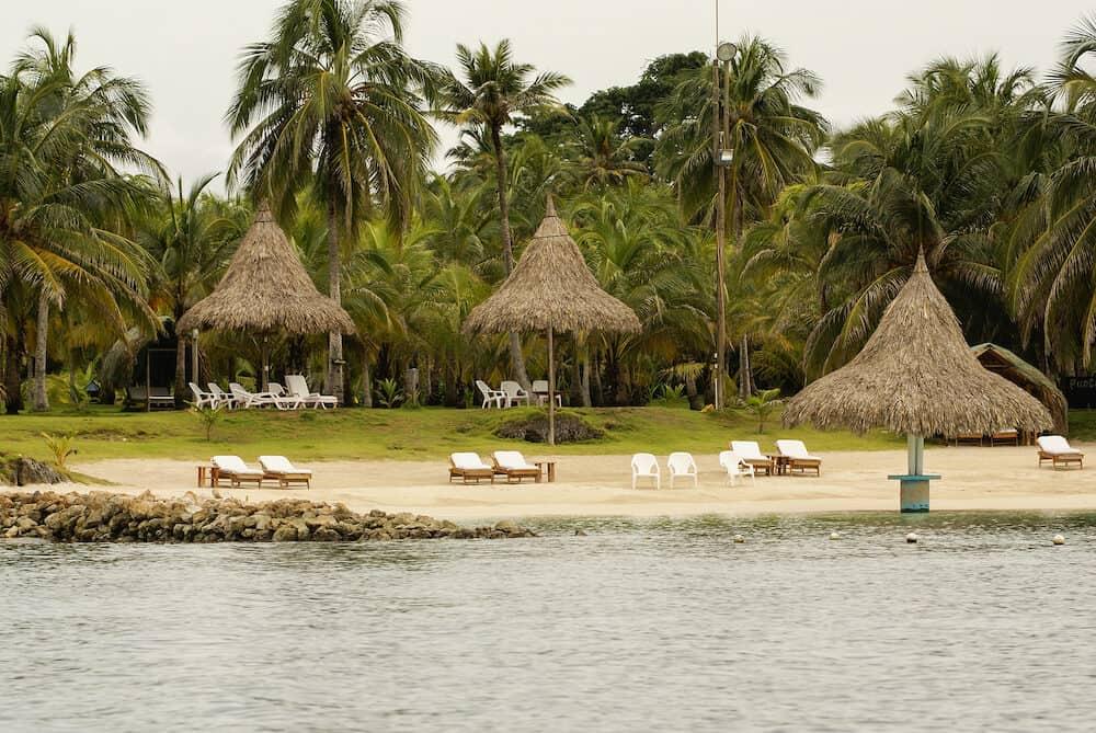 A tiny island in the caribbean Archipelago san Bernardo near Tolu Colombia