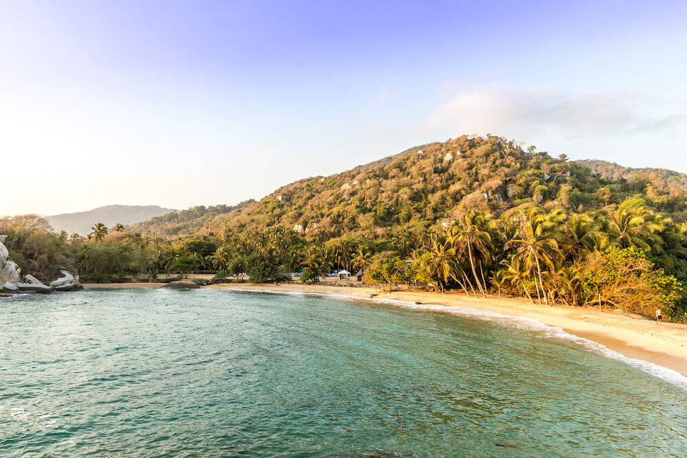 Tayrona National Park. A view of a beautiful beach in tayrona national Park in Colombia