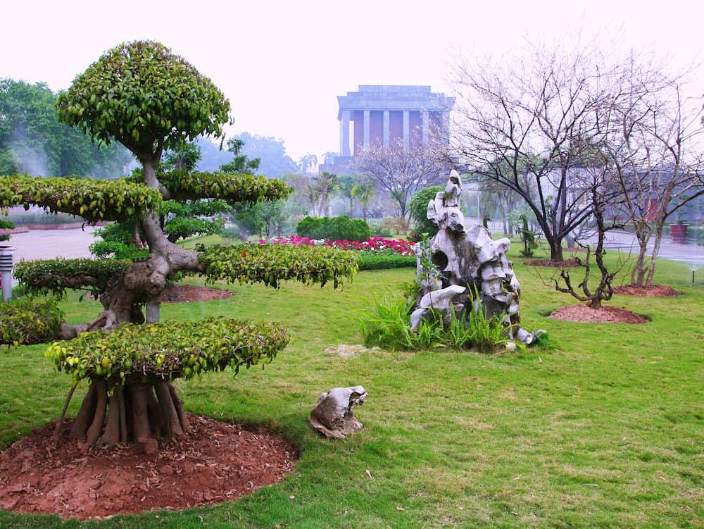 Ho Chi Minh mausoleum in Hanoi (Vietnam)