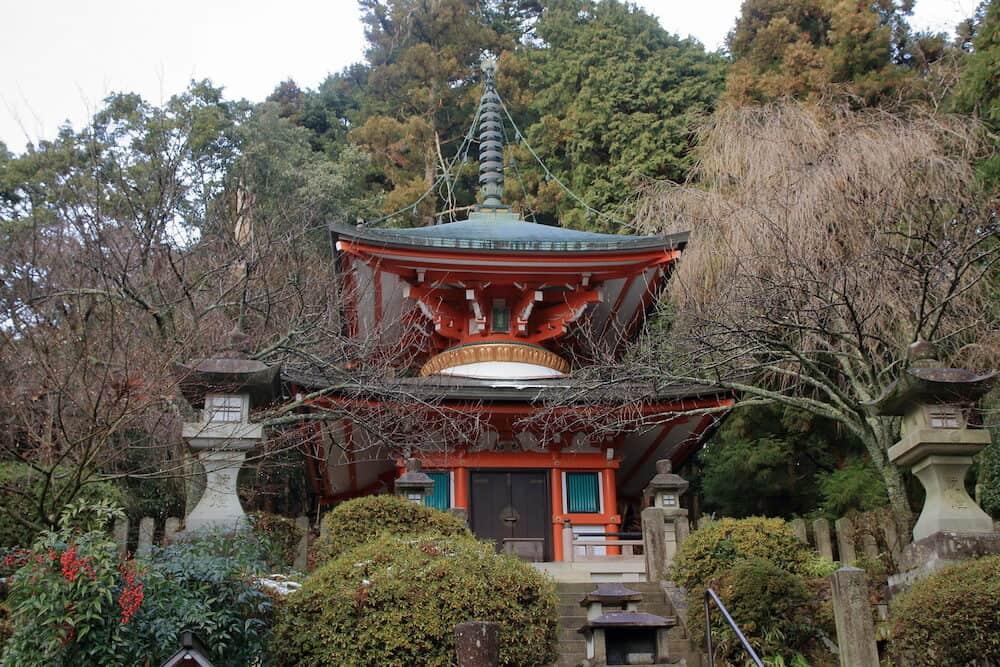 pagoda at Kurama dera temple, Kyoto, Japan