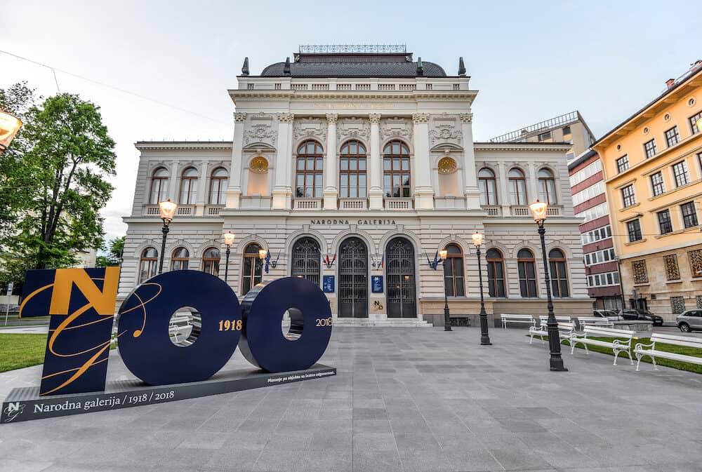 Ljubljana, Slovenia -The main building of the National Gallery of Slovenia in Ljubljana, Slovenia