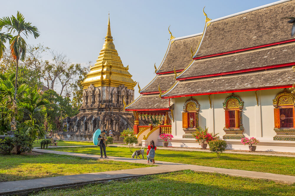 CHIANG MAI, THAILAND, - Wat Chiang Man Temple, Chiang Mai, Thailand, the oldest temple in Chiang Mai