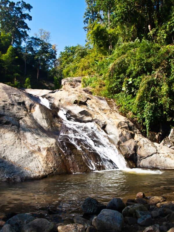 Mor Pang waterfall in Pai Mae hong son Thailand