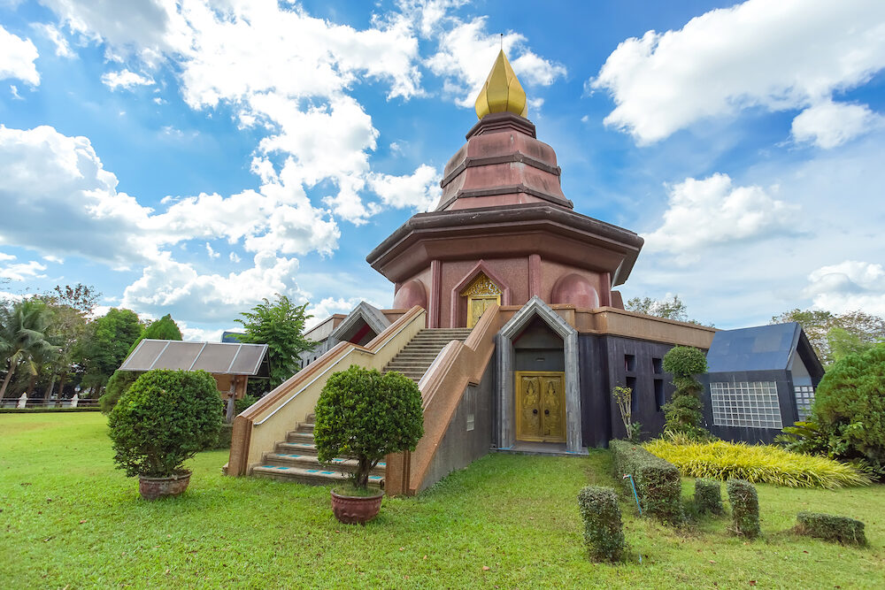 Sam Than Chao Khun Pagoda in Wat Pai Lom, Trad province, Thailand.