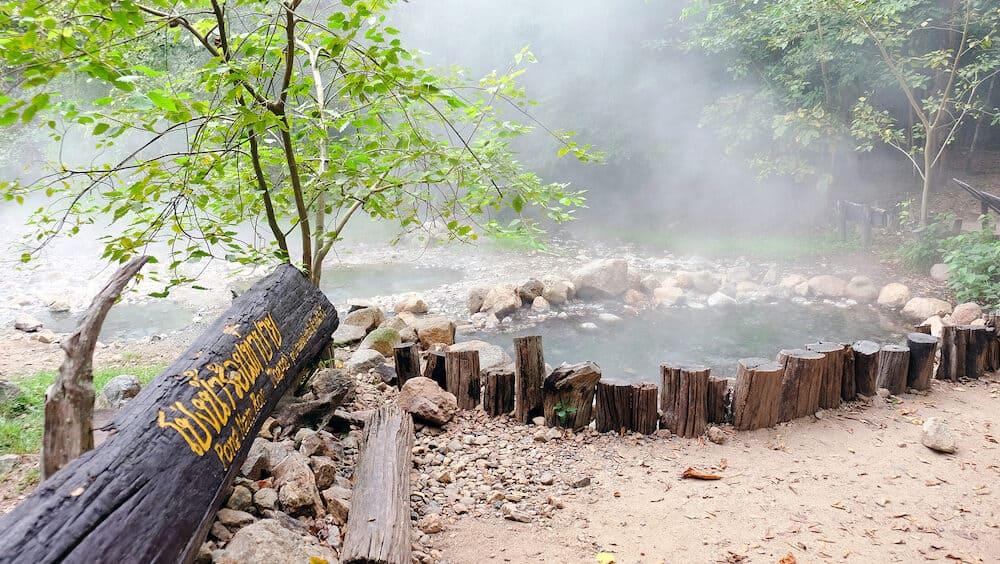 Tha Pai Natural Hot spring at mae hong son province, Thailand