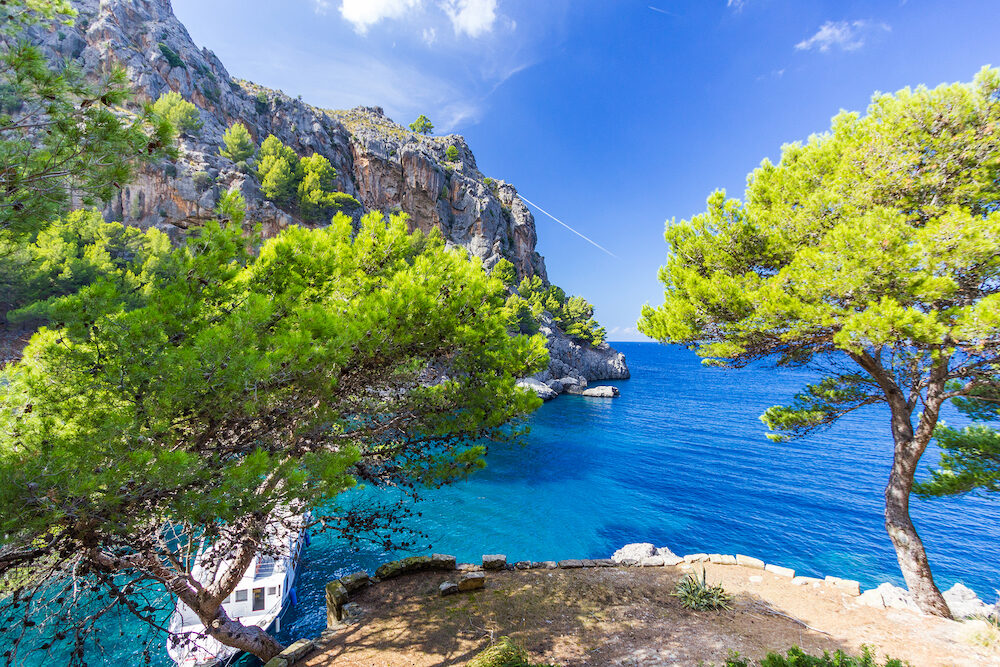 Beautiful view of Sa Calobra on Mallorca Island Spain