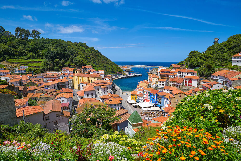 Cudillero village in Asturias from Spain
