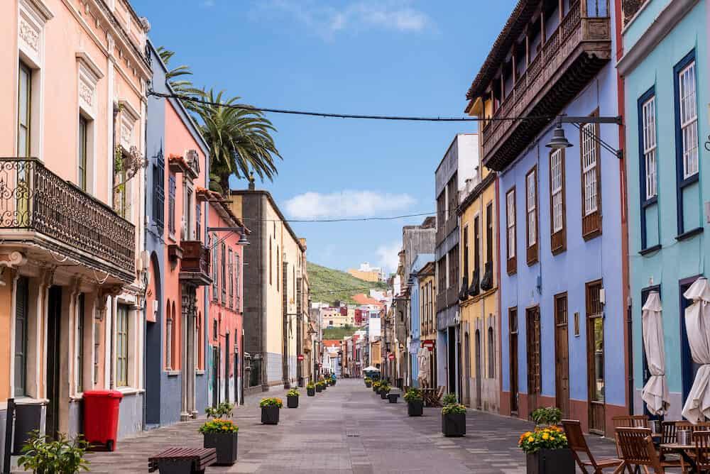 La Laguna street view, Tenerife, Canary Islands