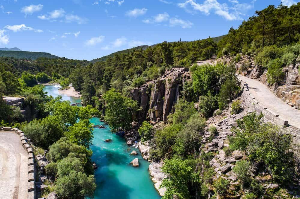 Aerial photo of Koprulu Canyon Beskonak Antalya Turkey