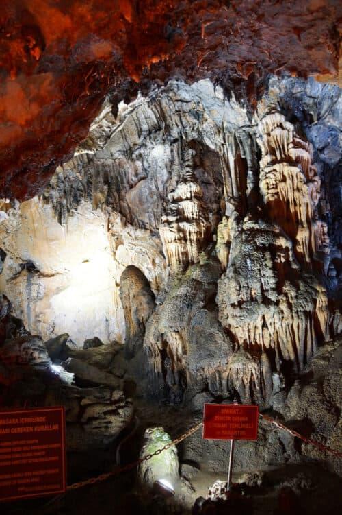 Limestone formations Bular Mencilis cave system over 6 km long Safranbolu Turkey
