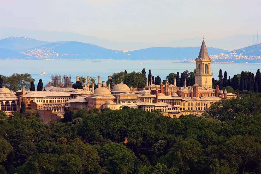 Topkapi Palace before Marmara sea Istanbul Turkey