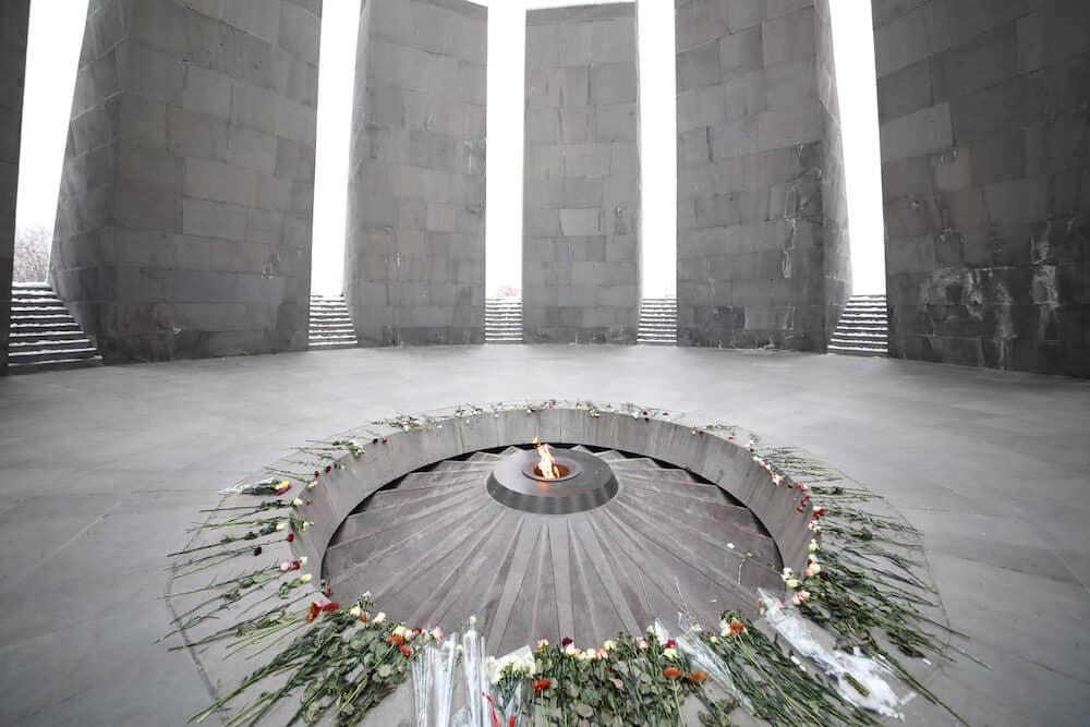 YEREVAN, ARMENIA - Memorial complex Tsitsernakaberd, dedicated to genocide of armenians in 1915