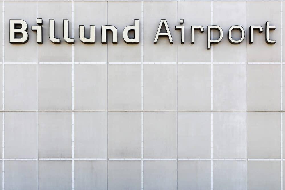 Billund, Denmark - Billund airport terminal in Denmark. Billund airport is the second largest airport in Denmark
