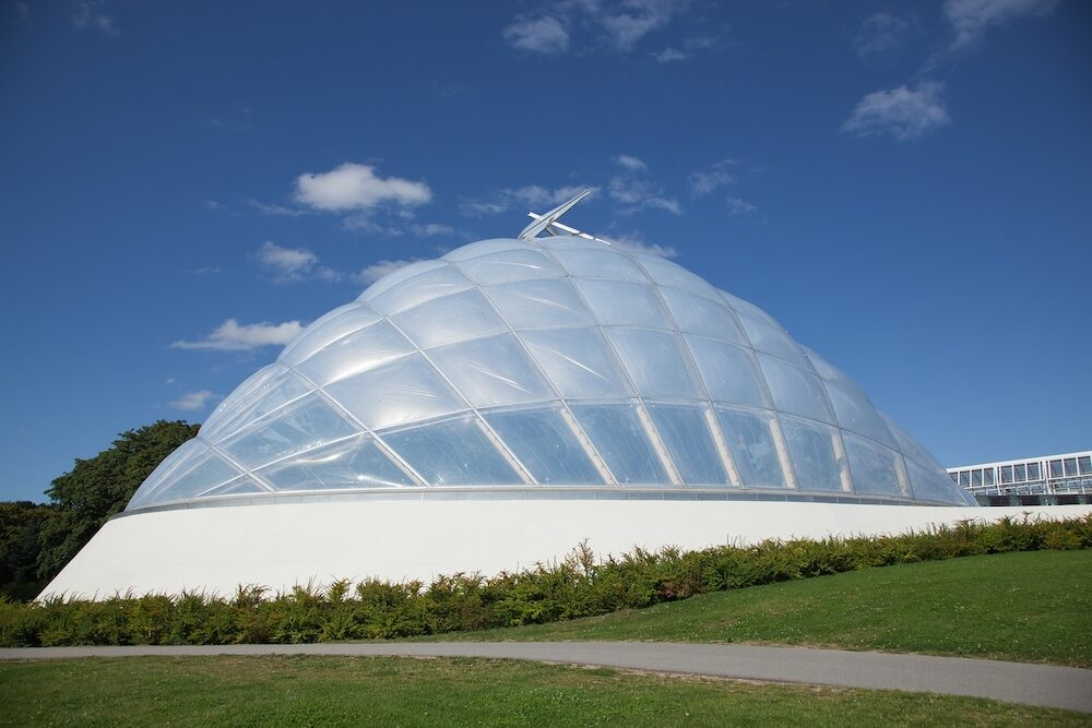 Greenhouse at the botanical garden in Aarhus, Denmark