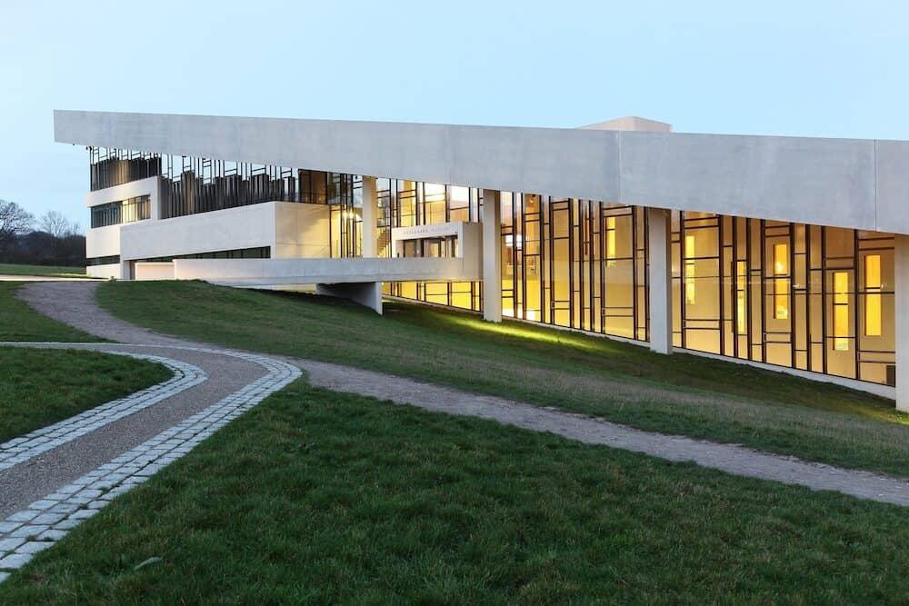 Aarhus, Denmark - Moesgaard museum is situated at Moesgaard manor in Hojbjerg, a suburb of Aarhus, Denmark. It is a museum dedicated for archeology and ethnography.