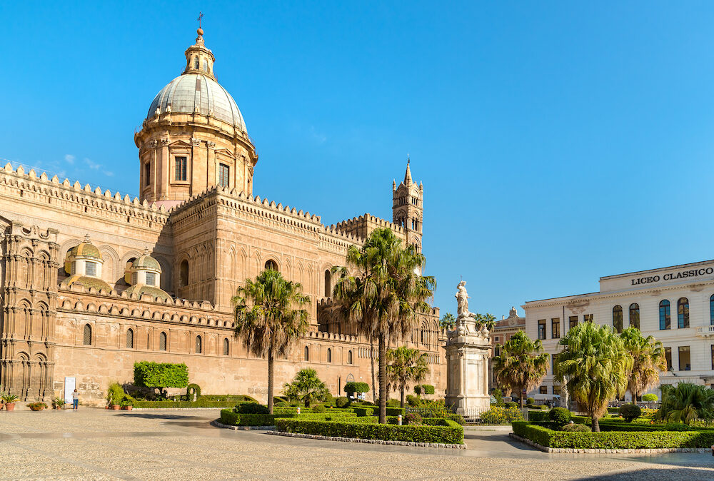 Palermo, Sicily, Italy - : View of Palermo Cathedral, Metropolitan Cathedral of the Assumption of Virgin Mary in Sicily