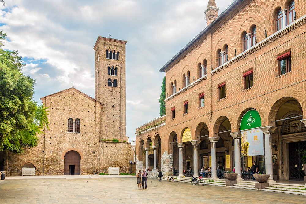 RAVENNA,ITALY - Basilica of San Francesco in Ravenna. Ravenna is the capital city of the Province of Ravenna, in the Emilia-Romagna region of Northern Italy.