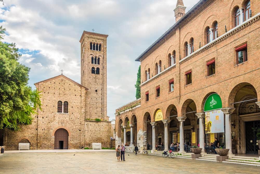 RAVENNA,ITALY - Basilica of San Francesco in Ravenna. Ravenna is the capital city of the Province of Ravenna, in the Emilia-Romagna region of Northern Italy.