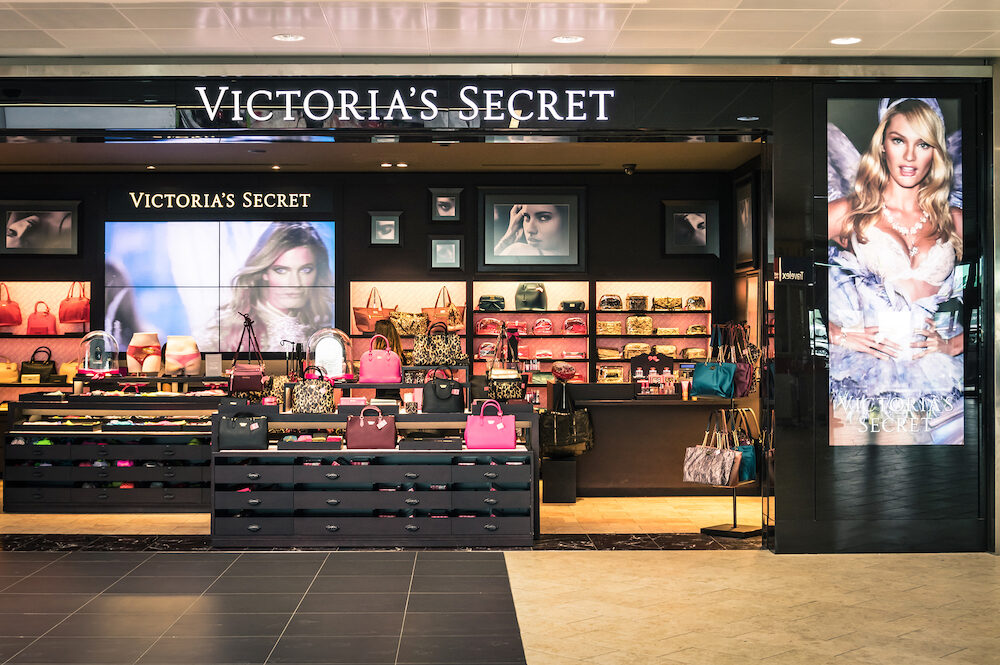 BOLOGNA ITALY - Victoria's Secret store at Guglielmo Marconi International Airport; Victoria's Secret is a world famous women dedicated international brand