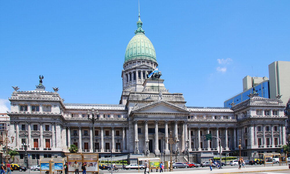 BUENOS AIRES ARGENTINA Congressional Plaza the Argentine Congress in Buenos Aires Argentina .The Congress of the Argentine Nation the legislative branch of the government.