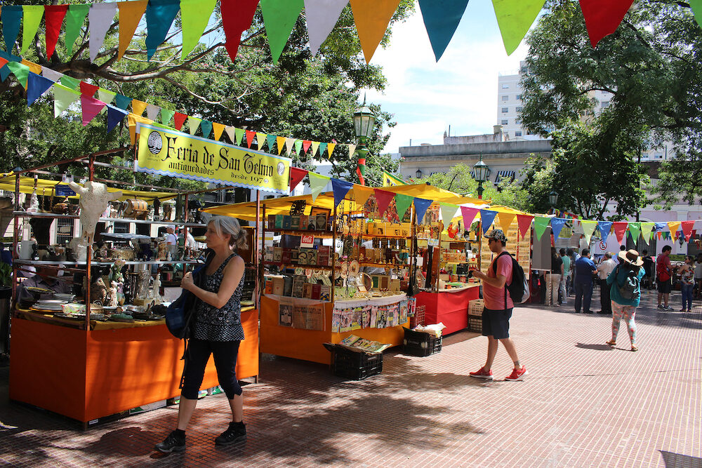 Buenos Aires, Argentina - : Feria De San Pedro Telmo, or the San Telmo fair a or market held on sundays in Buenos Aires, Argentina