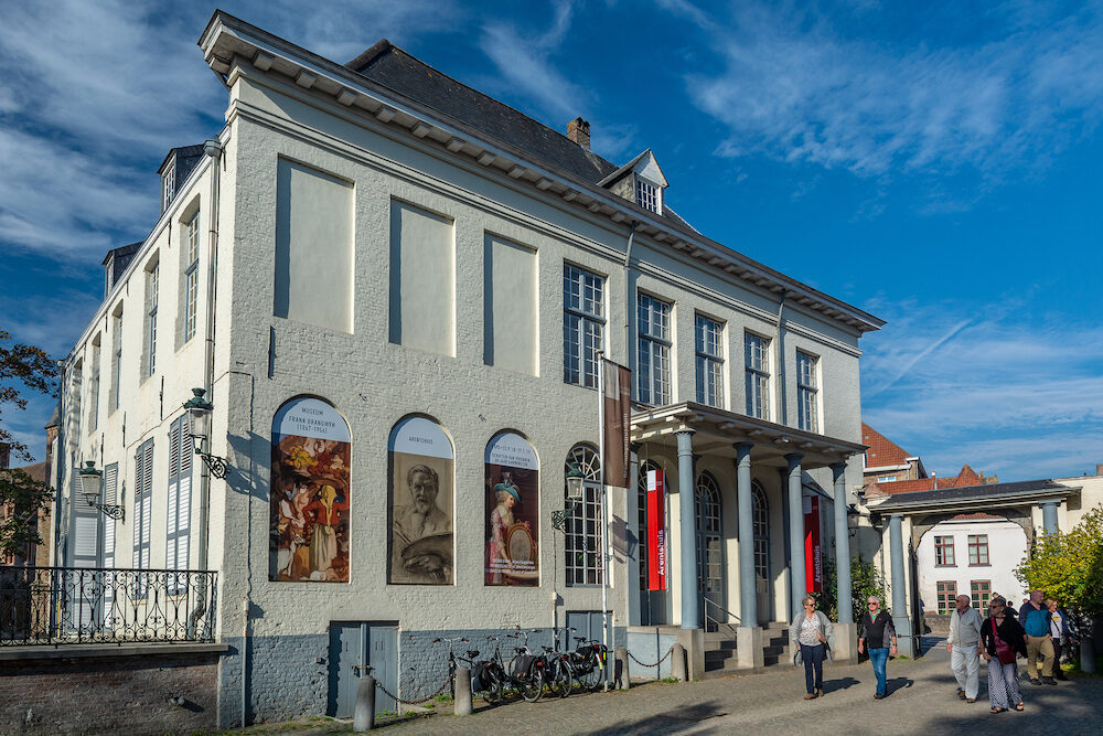 Bruges, Belgium - Arentshuis is a neoclassical building from the last quarter of the 18th century, and is now a museum about paintings.