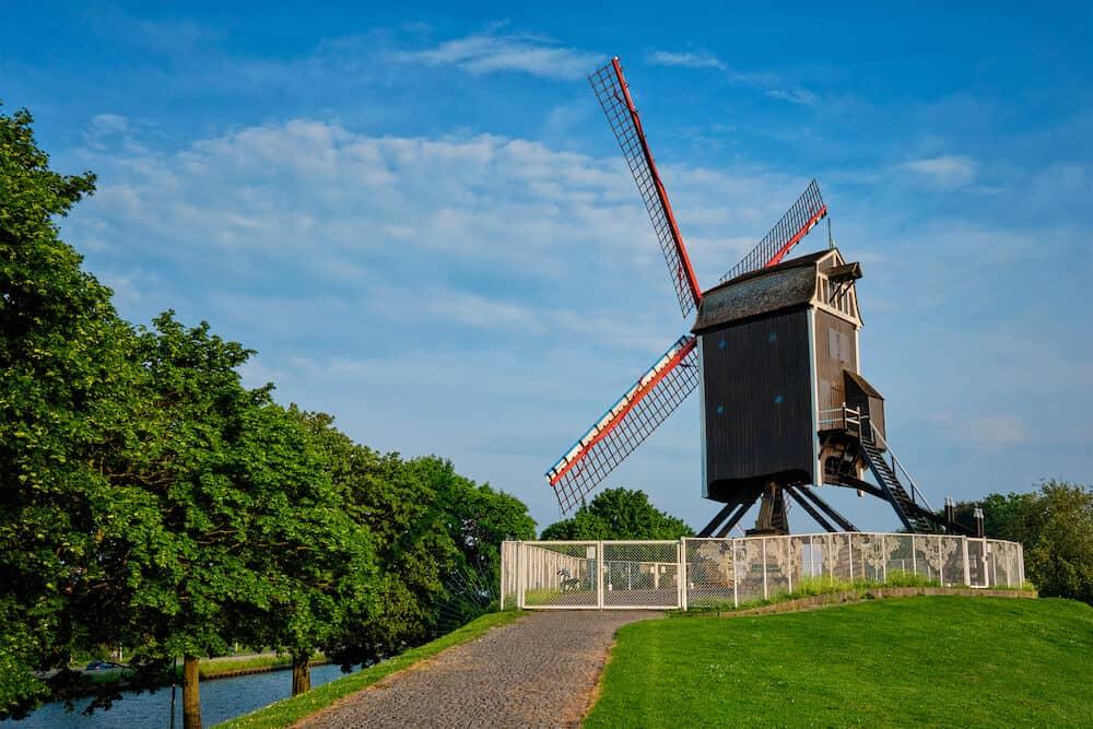 Sint-Janshuismolen Sint-Janshuis Mill windmill in Bruges, Belgium